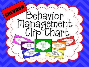 Editable Behavior Management Clip Chart - Chevron Style
