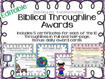 Editable Biblical Throughline Awards