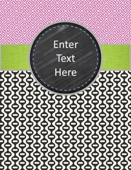 Editable Binder Cover Free