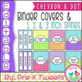 Editable Binder Covers - Chevron and Polka Dot