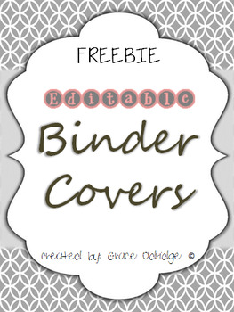 Editable Binder Covers FREEBIE