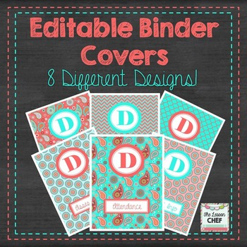 Editable Binder Covers (Freebie)