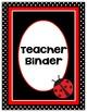 Editable Binder Covers * Ladybug Theme * Ladybug Binder Covers