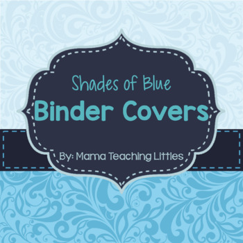 Editable Binder Covers- Shades of Blue