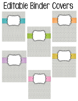 Editable Binder Covers (gray retro)