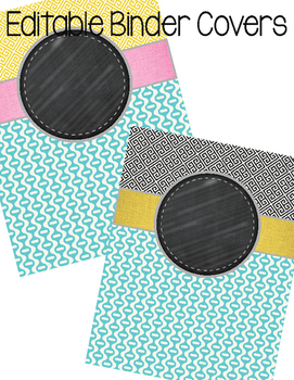 Editable Binder Covers (greek green base)