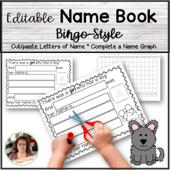 Editable Bingo Name Book for Spelling and Practice of Names