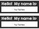 Editable Black & White Name Tags