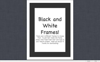 Editable Black and White Frames