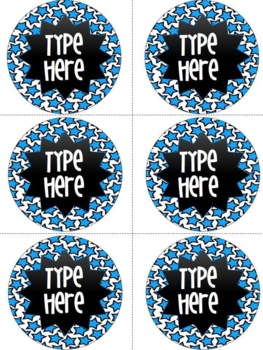 Editable Blue Star Round Labels
