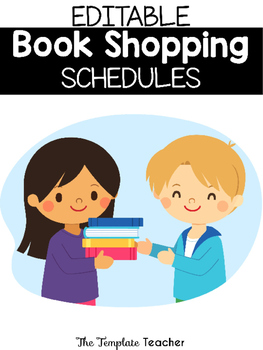 Editable Book Shopping Schedule Posters