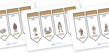 Editable Bookmarks- Vikings