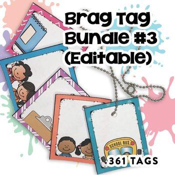 Brag Tags Editable Growing Bundle
