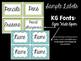 Editable Bright Chevron Classroom Labels