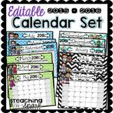 Editable Calendar Pack 2015-2016