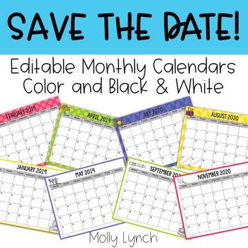Editable Calendar Pack