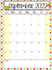 Editable Calendars 2016-2017 Polkadot - August 2016 to Dec