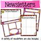 Classroom Newsletters and Teacher Calendars {editable} (Ye