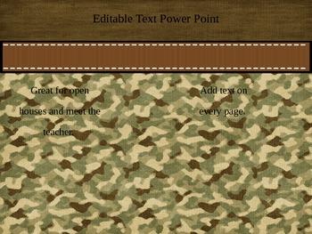 Editable Camouflage Presentation