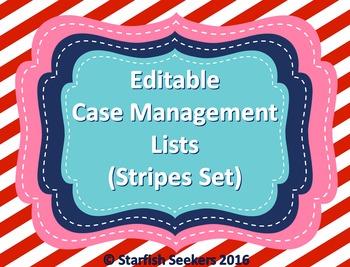 IEP Caseload Management - Editable Sheets (Stripes Set)