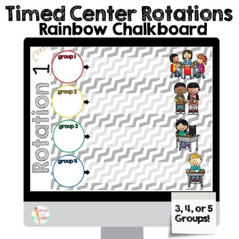 Editable Center Rotations PowerPoint - Colorful Chalkboard Theme