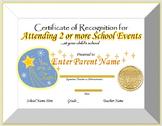 Editable Certificate of Participation for Parent Engagement