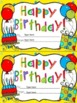Editable Certificates for Birthday,Congratulations, Get We