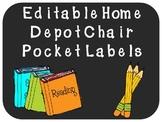 Editable Chair Pocket Labels