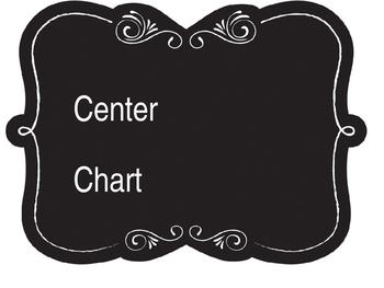 Editable Chalkboard Style Center Chart