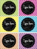 Editable Chalkboard and Chevron Labels