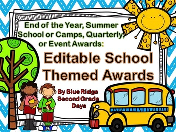 Editable Chevron Awards: End Of The Year, Event, or Academ