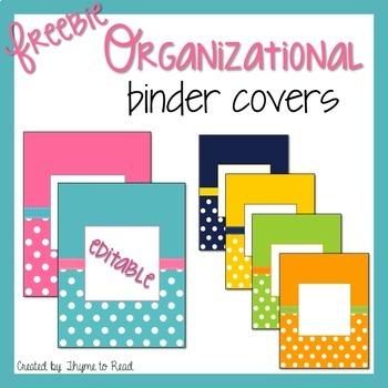 Editable Binder Covers {FREEBIE}