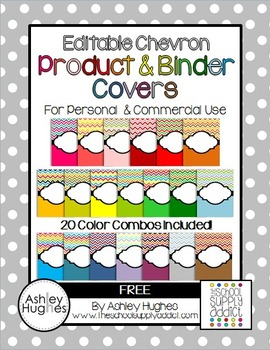 FREE Editable Chevron Binder & Product Covers
