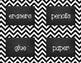 {Editable} Chevron Chalkboard Classroom Labels - Black