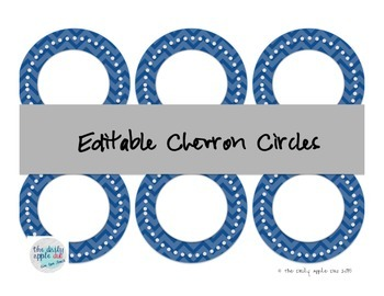 Editable Chevron Circles
