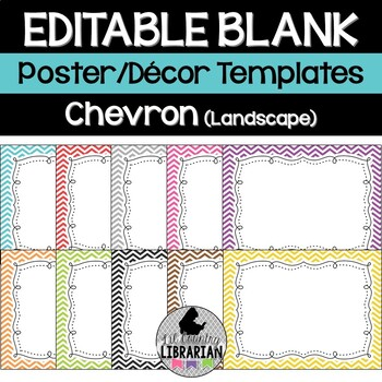 Editable Chevron Class List Posters and More PowerPoint {L