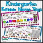 Editable Kindergarten Name Tags