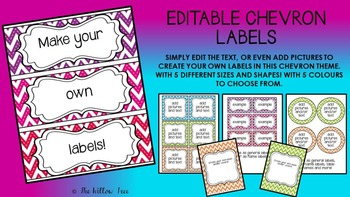 Editable Chevron Labels -- CREATE YOUR OWN