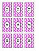 Editable Chevron Labels: Pink, White, Black