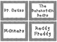 Editable Chevron Library Labels