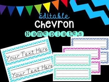 Editable Chevron Nameplates