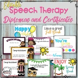 Editable Speech Therapy Awards and Diplomas