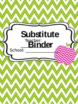 Editable Chevron Substitute Binder
