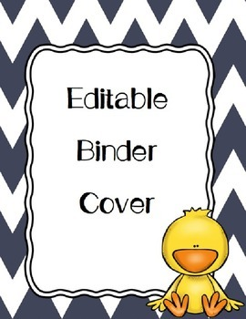 Editable Chick Binder Cover