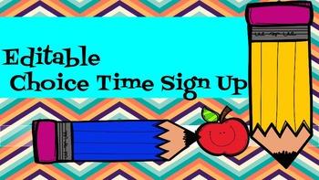 Editable Choice Time Sign Up Sheet
