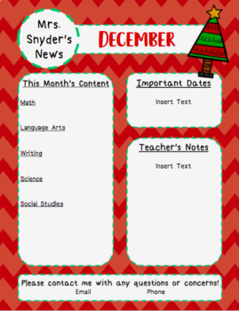 Christmas Chevron Newsletter