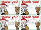 Editable Christmas Thank You Cards