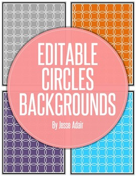 Editable Circles Backgrounds