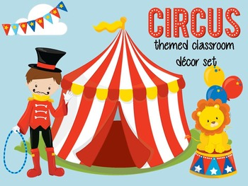 Editable Circus Themed Classroom Set