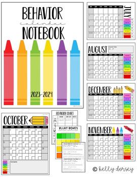 Editable Class Dojo/Clip Chart- Behavior Calendar Notebook